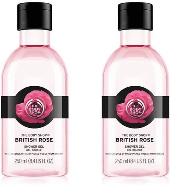 THE BODY SHOP British Rose Shower Gel Pack Of 2 (250 ml+250ml)