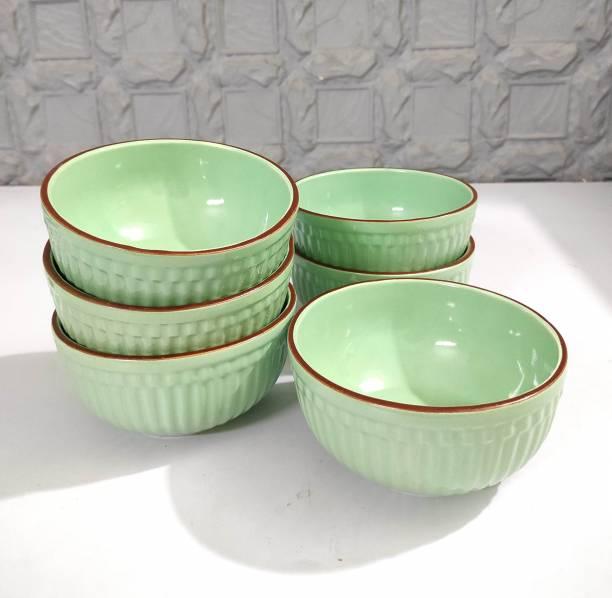 SEPARATE WAY Ceramic Salad/Cerelac Bowl Set of 6, 450 Ml Ceramic Salad Bowl