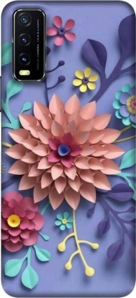 PNBEE Back Cover for vivo iQOO U1x - 3D Flower Print