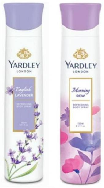 Yardley London English Lavender and Morning Dew Combo Pack 2 Deodorant Spray  -  For Women