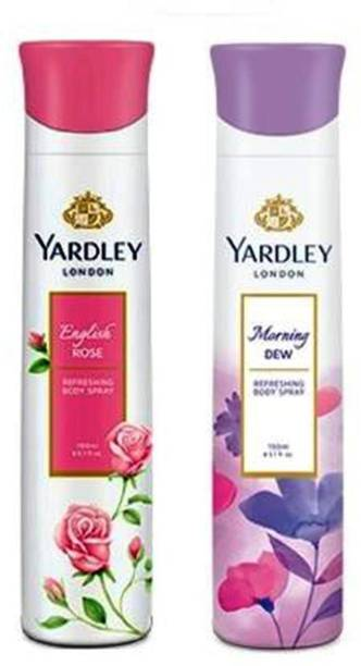 Yardley London English Rose and Morning Dew Combo Pack 2 Deodorant Spray  -  For Men