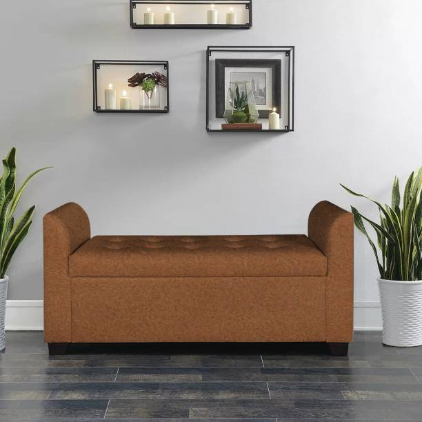 TREVI Polo Storage Bench Leatherette Settee