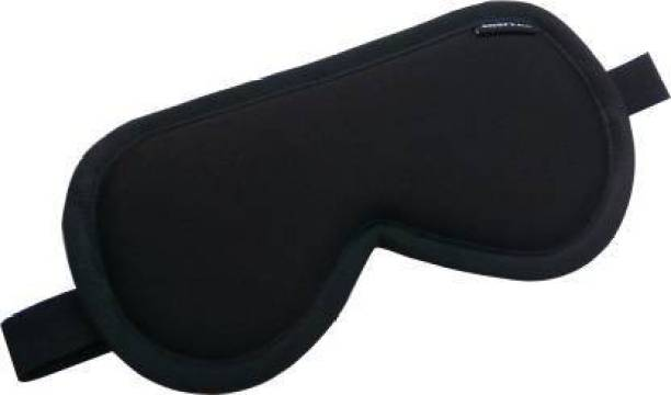 Drunna 100% Silk, Super Smooth Sleeping Mask with Adjustable Strap and Blind Fold Eye Mask Eye Shade (Black)