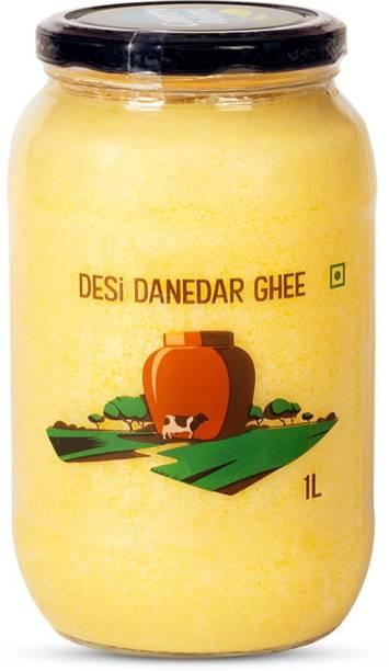 Country Delight Desi Danedar Cow Ghee Ghee 1 L Mason Jar