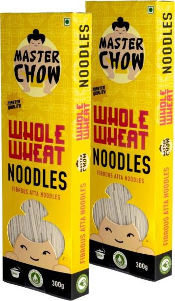 MasterChow Whole Wheat Noodles Kit (Pack of 2) | No Artificial Color | Made in Small Batches | Fresh From the Kitchen | Get Restaurant Style Taste in Just 10 Minutes | Serves 4-5 Meals Instant Noodles Vegetarian
