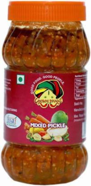 Chokhi Dhani Foods Mix Pickle 500 gm Mixed Vegetable Pickle Lime Pickle