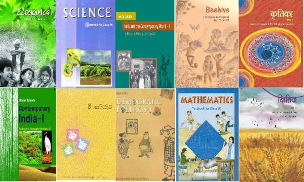 NCERT Complete Books Economics, Science, Beehive, Mathematics Set For (English Medium) - Class 9