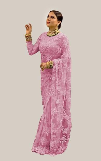Noise Embroidered Fashion Net Saree