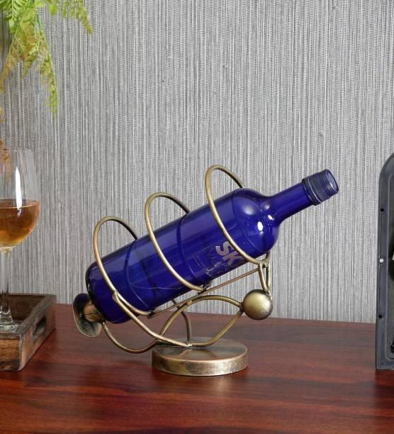 Indian Craft House Iron Bottle Rack
