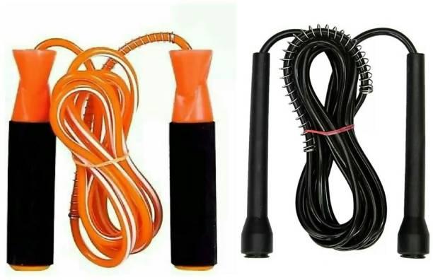 YRS Fitness Skipping Rope Ball Bearing and Free style Combo ( Pack of 2) Ball Bearing Skipping Rope
