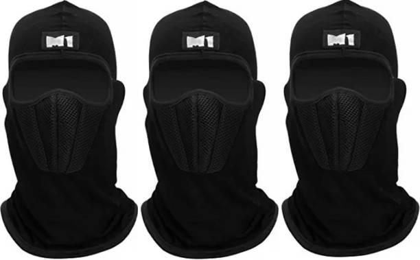 Rhtdm Black Bike Face Mask for Men & Women