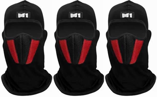 Rhtdm Black, Red Bike Face Mask for Men & Women