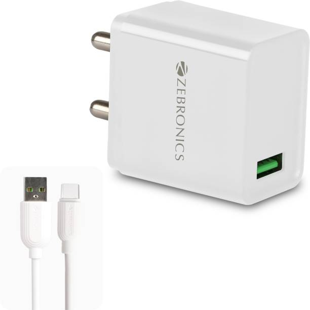 ZEBRONICS ZEB-MA5311Q 18W rapid 3 A Mobile Charger with Detachable Cable