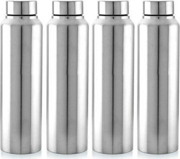 Aquasleri Aquasleri1000 ml Steel Water Bottle Set of 4 (Pack of 4) 1000 ml Bottle