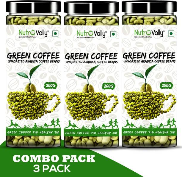 NutroVally Green Coffee Beans for Weight Loss Management /Fat Lose coffee Bean Instant Coffee