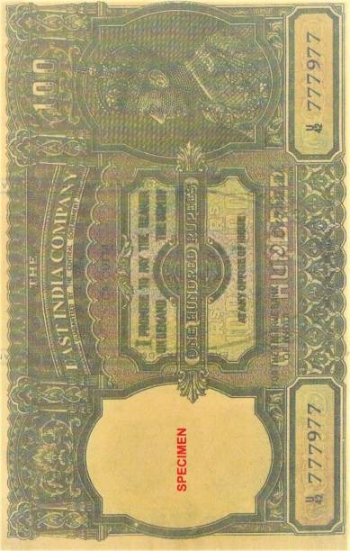 UNIQUE HERITAGE GALLERY HUNDRED RUPEES NOTE RARE NOTE OLD ISSUE EAST INDIA COMPANY BY C.D DESHMUKH BACK SIDE EAGLE PHOTO FENCY NOTE GOOD FOR COMPLETE COLLECTION ,CHECK PHOTO CAREFULLY DONT PLACE FAKE ORDER Medieval Coin Collection