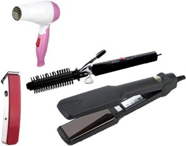 OLMEO Combo of straightener curler dryer hair brush massager