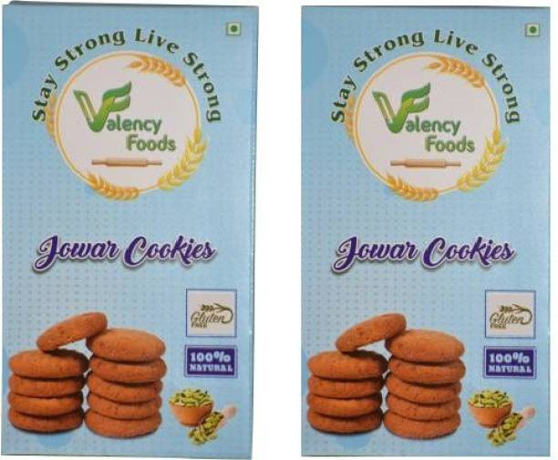 valency foods Jowar Cookies Pack of 2