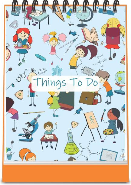 ESCAPER School Theme Things To Do Notepad (Standing - A6 Size - 48 Paper Leaves)  Things To Do Memopad   Things To Do Diary A6 Note Pad Ruled 48 Pages