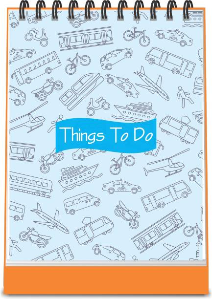 ESCAPER Vehicles Theme Things To Do Notepad (Standing - A6 Size - 48 Paper Leaves)| Things To Do Memopad | Things To Do Diary A6 Memo Pad Ruled 48 Pages