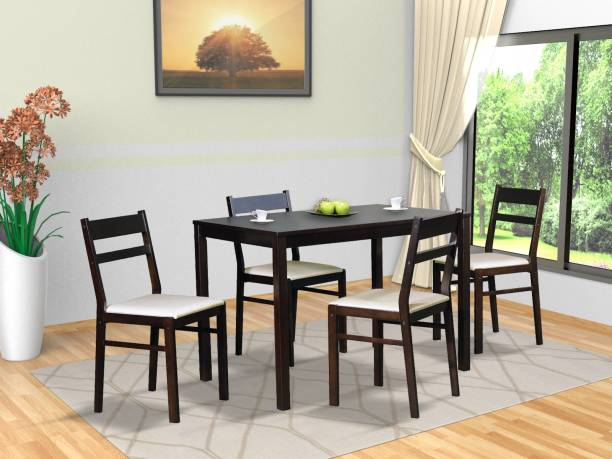 Aphrodite Collection by DF2H RHODOS Solid Wood 4 Seater Dining Set
