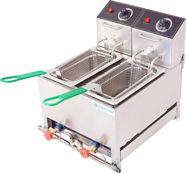 kiran 5 Liter Double Pan Deep Fryer- Electric & Gas 5 L Electric Deep Fryer