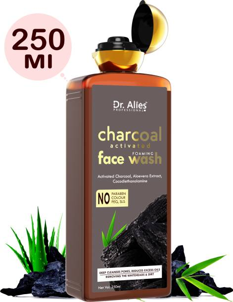 Dr. Alies Professional Activated Charcoal , Fights Pollution And Acne, Oil Control and deep cleansing Face Wash