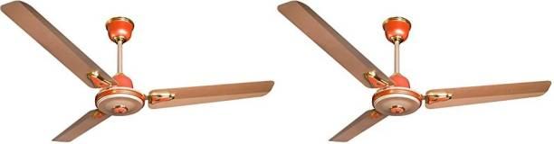 CROMPTON Decora Premium Ginger goldpack of 2 1200 mm 3 Blade Ceiling Fan