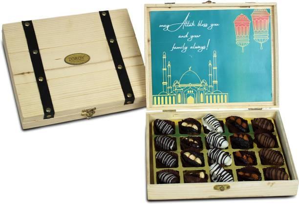 Zoroy Luxury Chocolate Leather Feel Hamper Luxury Briefcase of chocolates and goodies Combo