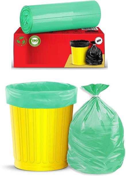 Runwet Premium - Biodegradable Garbage Bags| Disposable Garbage Trash Waste Dustbin Covers & Bags 3 Packs of 30pcs - 90 Pcs Medium:19 Inch X 21 Inch(Green) Medium 15 L Garbage Bag