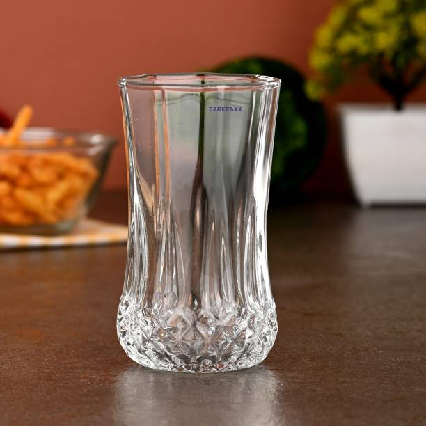 FAREFAXX (Pack of 6) GLASSY OUTSIDE HEALTHY INSIDE WATER JUICE GLASS NG10 Glass Set