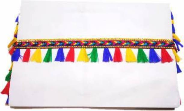 Mq Multi color lace with multicolor tassels Lace Reel