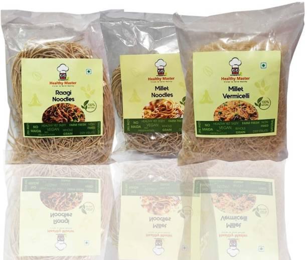 healthy master Millet Noodles and Vermicelli pack Hakka Noodles Vegetarian