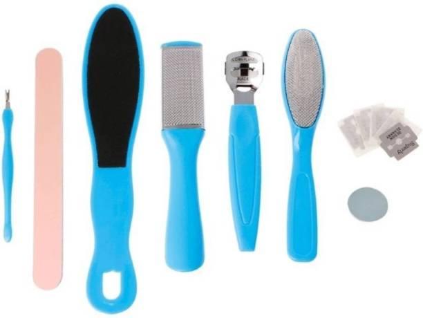 Balaji Pedicure Tools for Feet - 8 in 1 Pedicure Kit | Foot Scrubber for Dead Skin, Callus Remover, Foot Scraper, Foot File, Pitchfork, Fine Sand Filer for Nail Repair - 1 Set