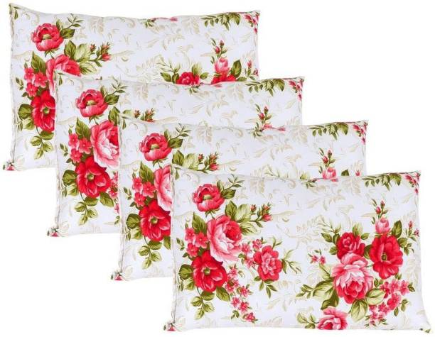 SAN & MAAHI premium Floral Pillow Microfibre Floral Sleeping Pillow Pack of 4