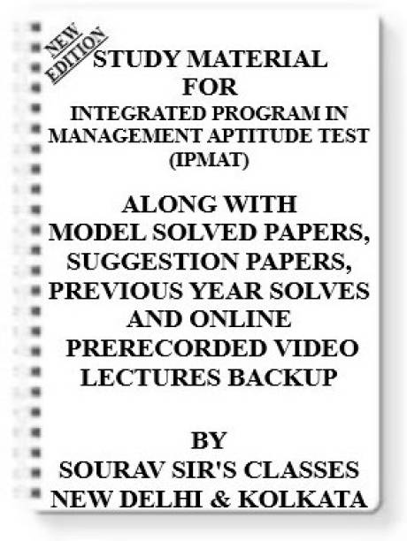 Study Notes Material On Integrated Program In Management Aptitude Test (Ipmat) For 2021-2022 With Model Question Papers + Topicwise Analysis + Mcq Questions + Special Practice Set
