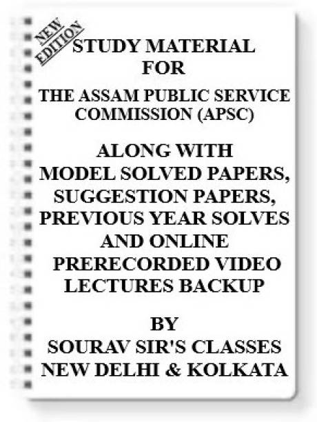 Study Notes Material On Assam Public Service Commission (Apsc) For 2021-2022 With Topicwise Analysis + Mcq Questions+model Question Papers