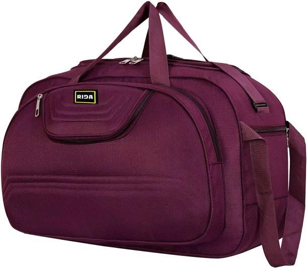 RIDA Polyester Lightweight 60 L Luggage Travel Folding Duffle Bag With 2 wheels Purple