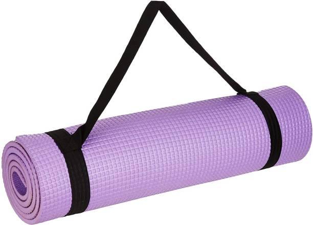 indiabizlist Antiskid Exercise Gym Yoga Mat with Strap For Women & Men Fitness Purple Purple 4 mm Exercise & Gym Mat