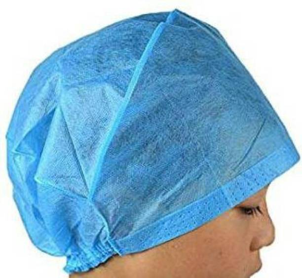 DM SPECIALLY FOR SPECIALIST - Premium Quality Non Woven Blue Surgeon Cap (Pack Of 100) Surgical Head Cap