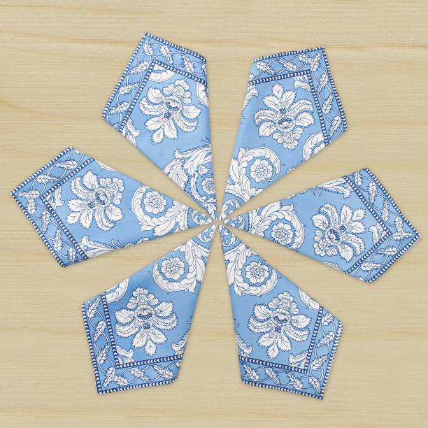 The Earth Store Blue Table Linen Set