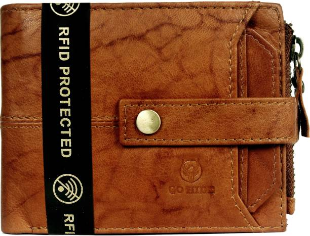 GO HIDE Men Brown Genuine Leather Wallet