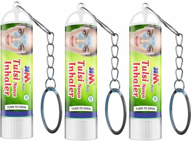 30M Ayurvedic Nasal Inhaler For Cough And Cold Relief   Inhaler Medicine  Aromathearapy Nasal Inhaler   Inhaler with Key Chain   Vaporizer   For Asthma Sinusitis Bronchitis Pack of 3
