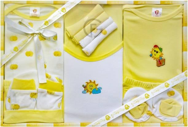 Mini Berry New Born Baby Gifts Set-13 Pcs ( Yellow )
