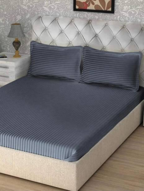 Luxury Trends 220 TC Cotton Double Striped Bedsheet