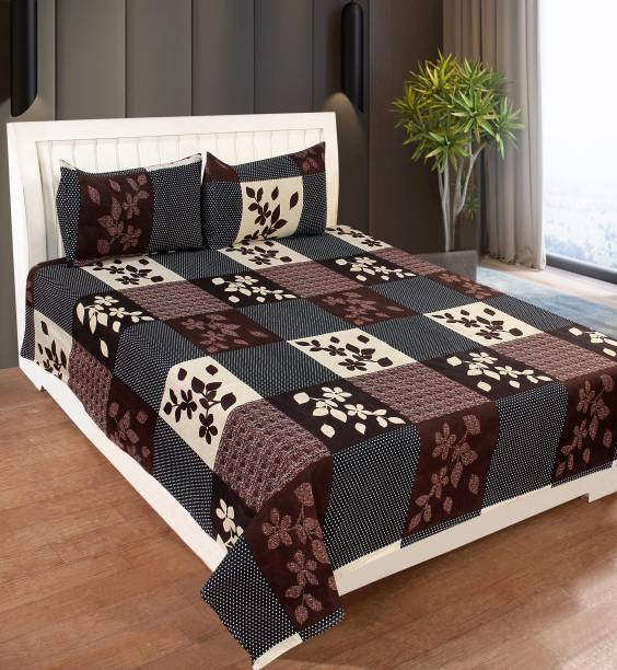 SS88 HOMES 180 TC Polycotton Double Floral Bedsheet