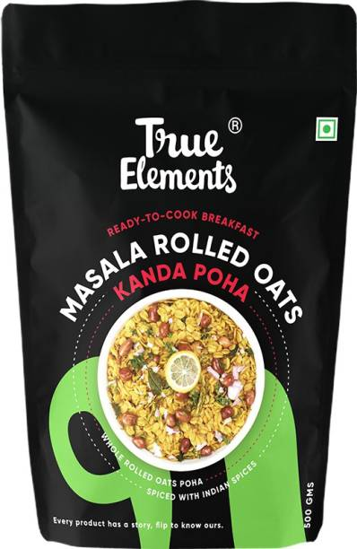 True Elements Masala Rolled Oats | Spiced with Indian Spices | Breakfast