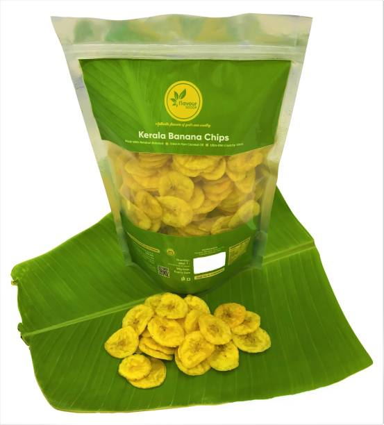 flavourscoop Kerala Banana Chips Fried in Coconut Oil, 800g Chips