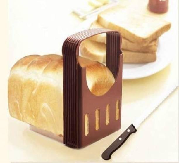 khandiya enterprise kano Bread Slicer Foldable and Adjustable Bread Toast Slicer Bagel Slicer Cutter Mold with 4 Slice Thicknesses Bread Slicer Bread Slicer for Kitchen Slicer Bread Cutter Bread Maker
