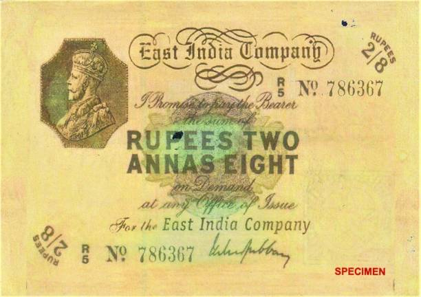 UNIQUE HERITAGE GALLERY RARE NOTE TWO ANNAS EIGHT NOTE BRITISH INDIA FENCY NOTE GOOD FOR COMPLETE COLLECTION ,CHECK PHOTO CAREFULLY DONT PLACE FAKE ORDER Medieval Coin Collection
